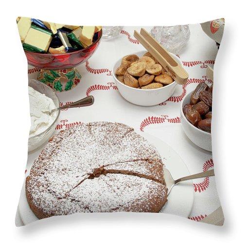 Homemade Throw Pillow featuring the photograph Scandinavian Dessert Smorgasbord by Steve Skjold