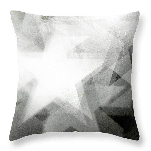 Art Throw Pillow featuring the photograph Scratchy Star Background by Loudredcreative