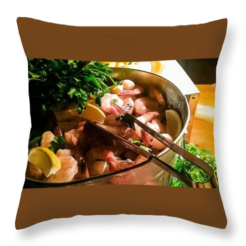 Throw Pillow featuring the mixed media Scrumptious by Darnell Ligon