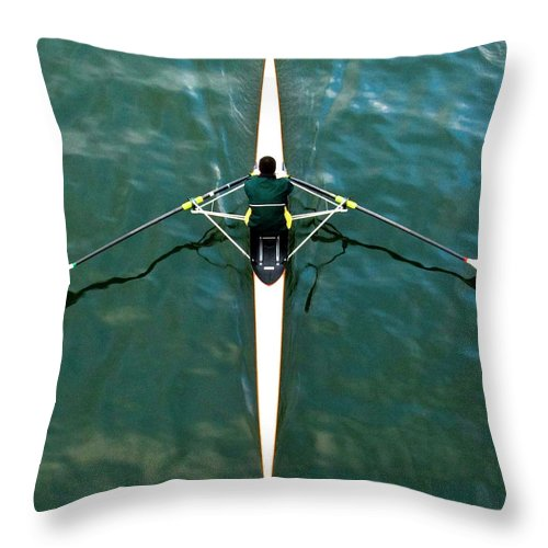People Throw Pillow featuring the photograph Scull by Gerard Hermand