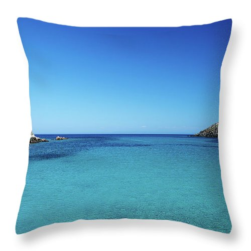 Scenics Throw Pillow featuring the photograph Sea by Cactusoup