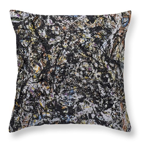 Jackson Pollock Throw Pillow featuring the painting Sea Change by Jackson Pollock