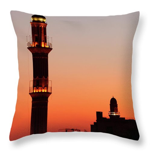 Built Structure Throw Pillow featuring the photograph Sehidiye Mosque Minaret by Wu Swee Ong