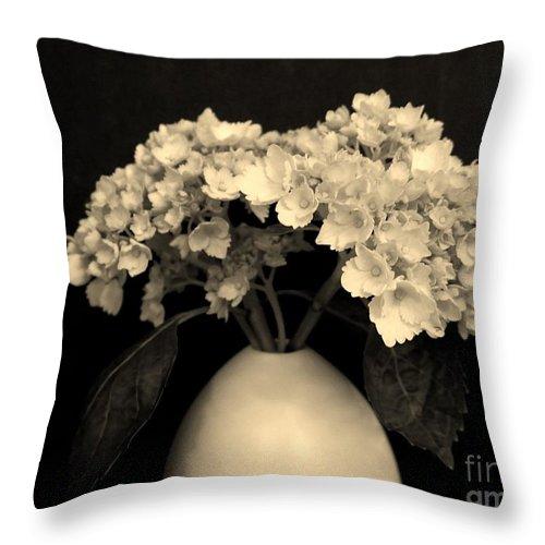 Photo Throw Pillow featuring the photograph Sepia Dainties by Marsha Heiken