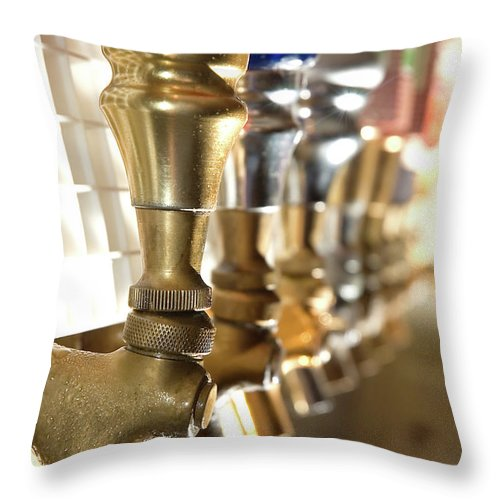 Handle Throw Pillow featuring the photograph Serve It Up by Inkkstudios