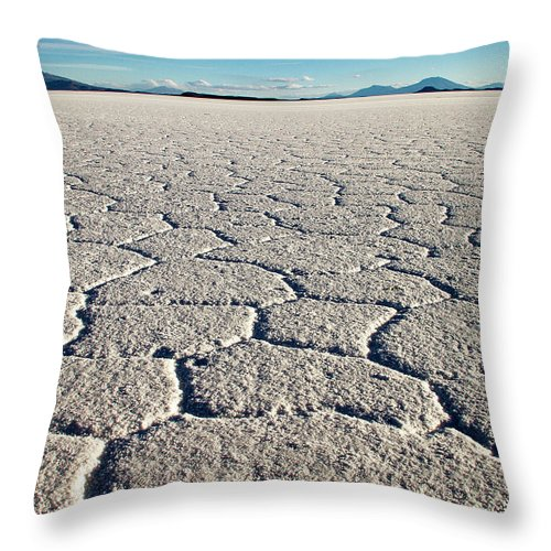Tranquility Throw Pillow featuring the photograph Shape Of Salt by Www.for91days.com