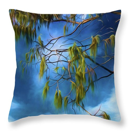 She Oak Leaves Throw Pillow featuring the photograph She Oak Leaves by Sheila Smart Fine Art Photography