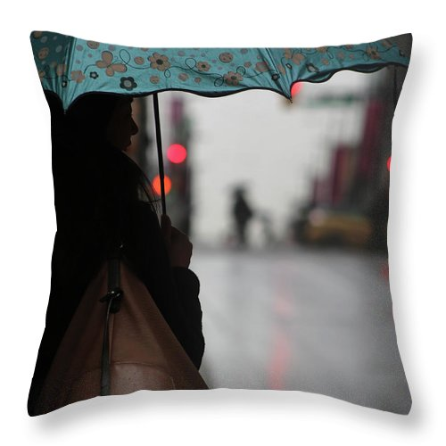 Umbrella Throw Pillow featuring the photograph She Said Go by The Artist Project