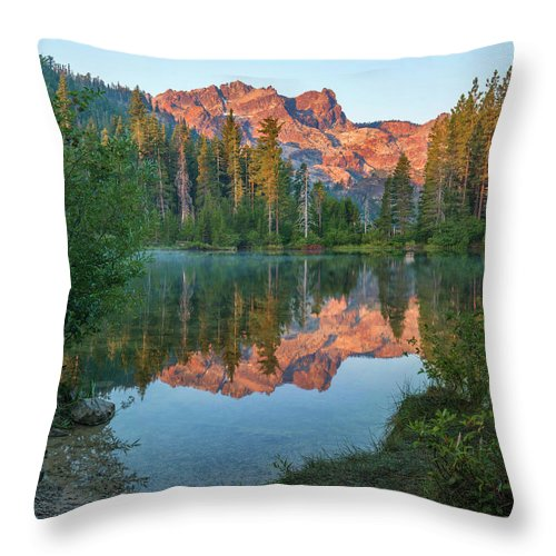 00574849 Throw Pillow featuring the photograph Sierra Buttes From Sand Pond, Tahoe National Forest, California by Tim Fitzharris