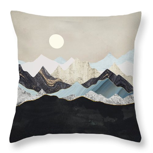 Digital Throw Pillow featuring the digital art Silent Dusk by Spacefrog Designs