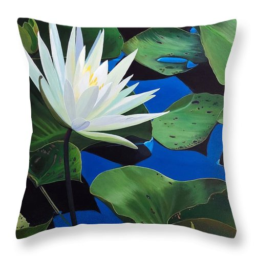 Aquatic Throw Pillow featuring the painting Silent Love by Hunter Jay