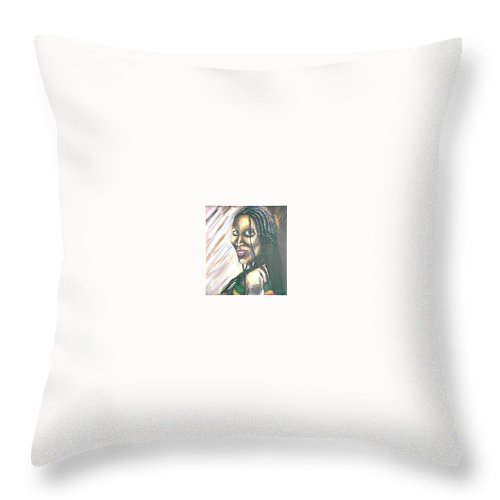 Throw Pillow featuring the painting Sister by Andrew Johnson