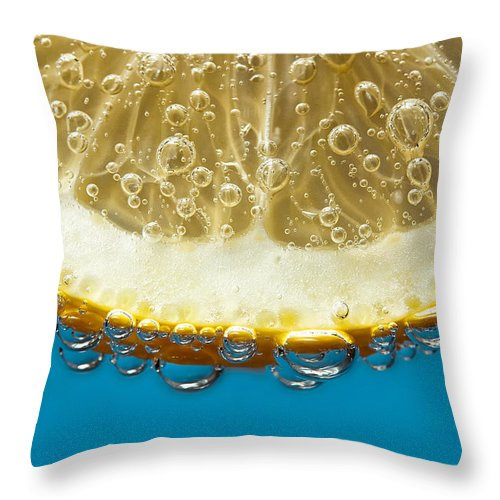 Purity Throw Pillow featuring the photograph Slice, No Ice by Image By Paul Mason