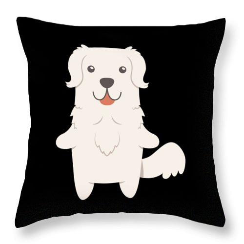 Best-dog-gift Throw Pillow featuring the digital art Slovak Cuvac Dog Gift Idea by DogBoo
