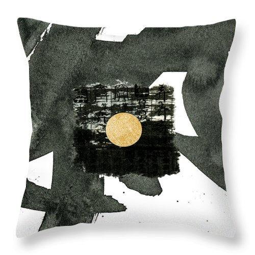 Carol Leigh Throw Pillow featuring the mixed media Small Tag 901 by Carol Leigh