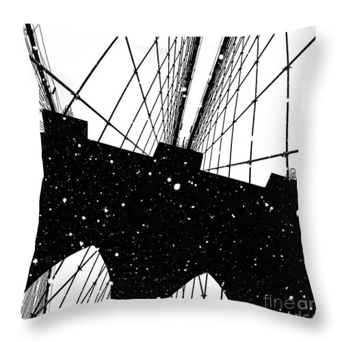 Snow Throw Pillow featuring the digital art Snow Collection Set 04 by Az Jackson