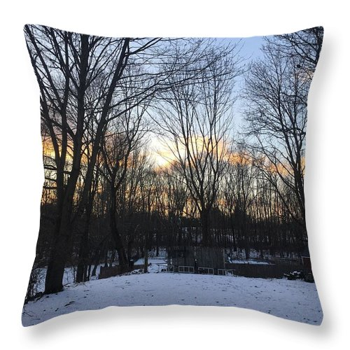 Throw Pillow featuring the photograph Snow Day by Reagen Guthrie