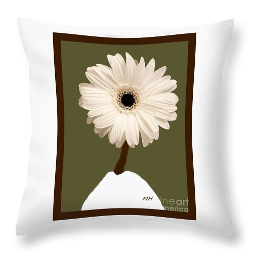 Snow White Gerber Throw Pillow For Sale By Marsha Heiken