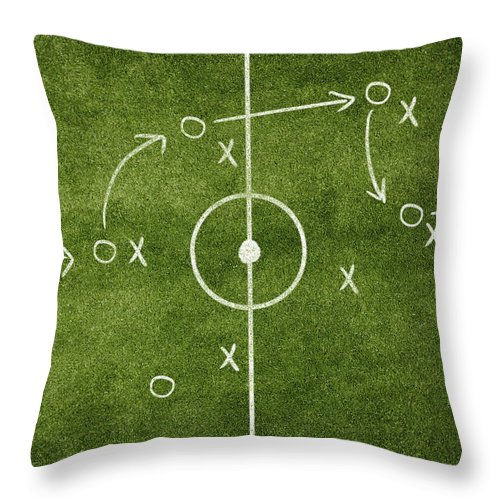 Rectangle Throw Pillow featuring the photograph Soccer Strategy by Goldmund
