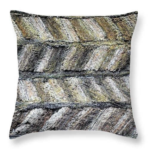 Pattern Throw Pillow featuring the photograph Sod House Pattern by Norman Burnham