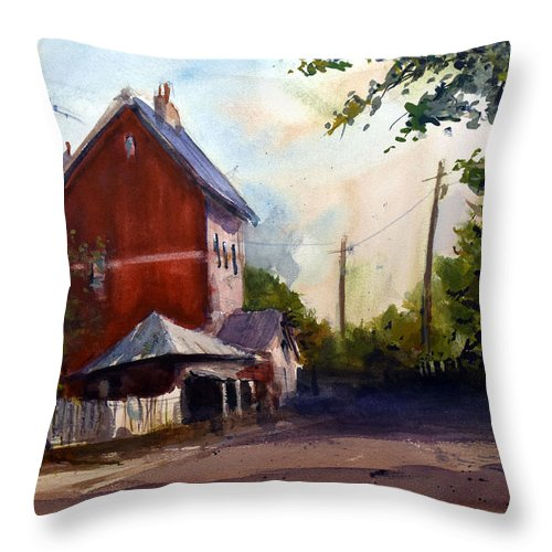 Sofala. New South Wales Throw Pillow featuring the painting Sofala Post Office, NSW Australia by Charles Rowland