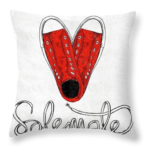Sole Throw Pillow featuring the painting Sole Mate by Sd Graphics Studio