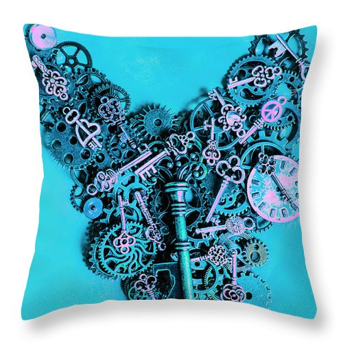 Steampunk Throw Pillow featuring the photograph Solid State by Jorgo Photography - Wall Art Gallery