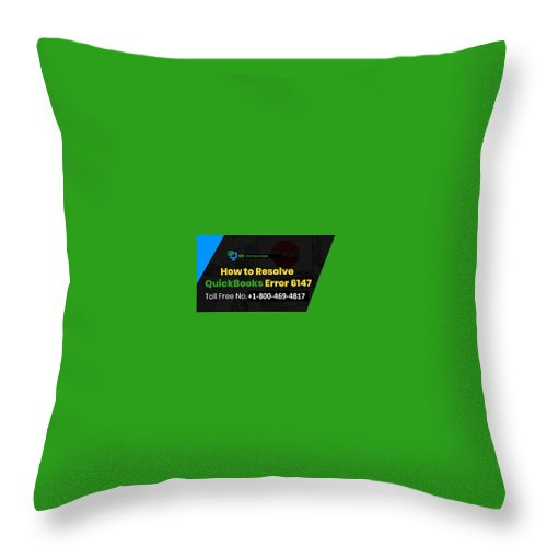 Quickbooks Error 6147-0 Throw Pillow featuring the mixed media Solution Quickbooks Web Connector Error 6147,0 by Emma