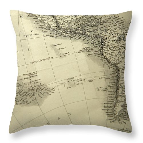 Amazon Rainforest Throw Pillow featuring the photograph South America by Belterz