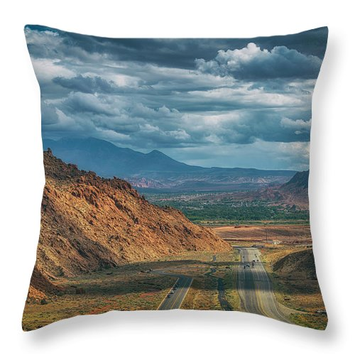 Clouds Throw Pillow featuring the photograph Southern Utah by Marybeth Kiczenski