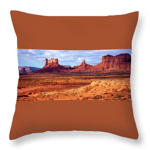 Scenics Throw Pillow featuring the photograph Southwest Scenery by Vittorio Ricci - Italy