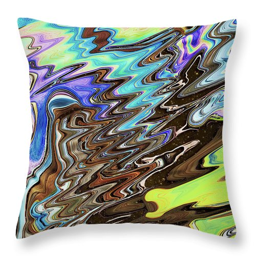 Abstract Throw Pillow featuring the digital art Space-Time Continuum by Jack Entropy