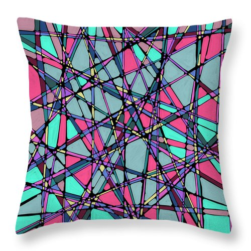Nonobjective Throw Pillow featuring the digital art Spaces We Inhabit #010 by James Fryer