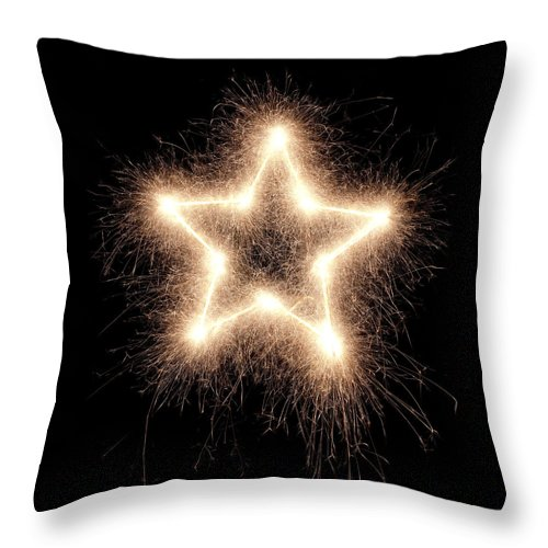 Holiday Throw Pillow featuring the photograph Sparkling Star by Amriphoto