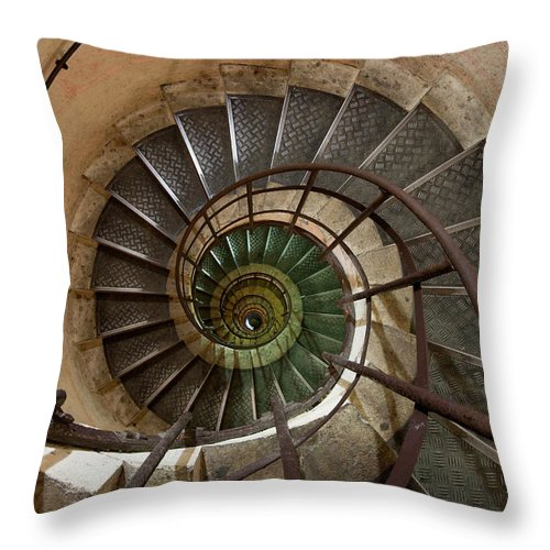 Built Structure Throw Pillow featuring the photograph Spiral Staircase In The Arc De by Mint Images/ Art Wolfe