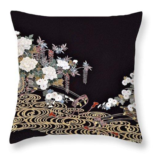 Throw Pillow featuring the digital art Spirit of Japan T40 by Miho Kanamori