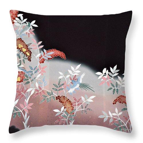 Throw Pillow featuring the digital art Spirit of Japan T47 by Miho Kanamori