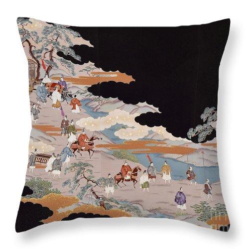Throw Pillow featuring the digital art Spirit of Japan T85 by Miho Kanamori
