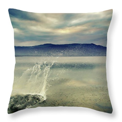 Splash Crown In Water Throw Pillow For Sale By Andre Bernardo