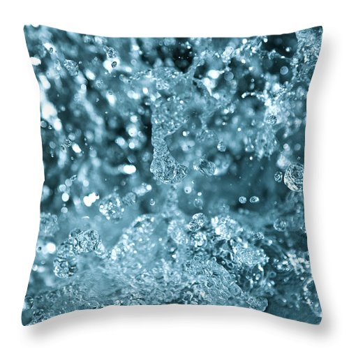 Spray Throw Pillow featuring the photograph Splash From Waterfall by Sindre Ellingsen