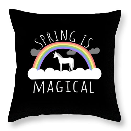Unicorn Throw Pillow featuring the digital art Spring Is Magical by Flippin Sweet Gear