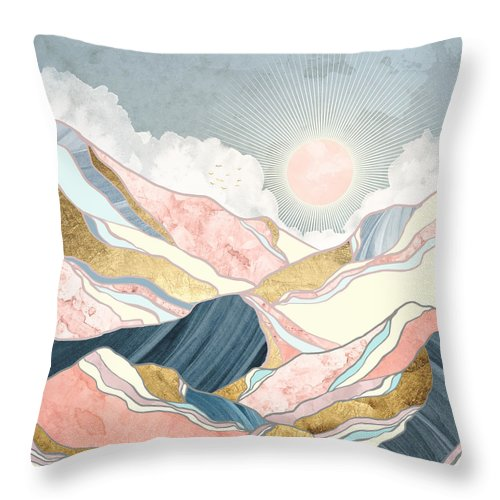 Spring Throw Pillow featuring the digital art Spring Morning by Spacefrog Designs