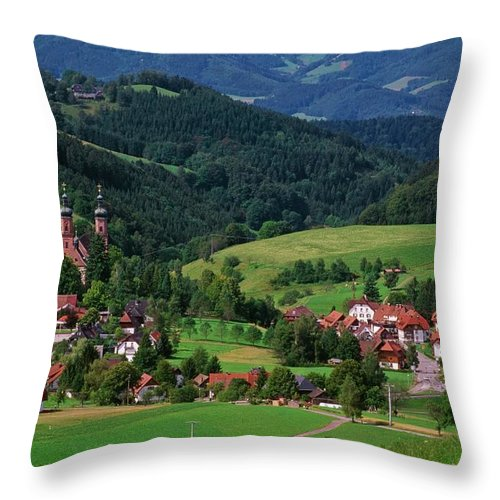 Architectural Feature Throw Pillow featuring the photograph St. Peters Abbey, Black Forest, Germany by Bilderbuch  / Design Pics