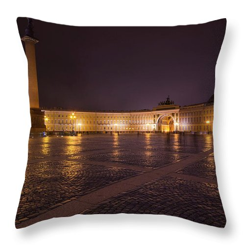 City Throw Pillow featuring the photograph St. Petersburg Palace Square by Judy Hess
