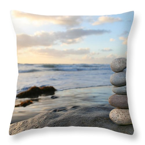 Heap Throw Pillow featuring the photograph Stacked Rocks by Plasticsteak1