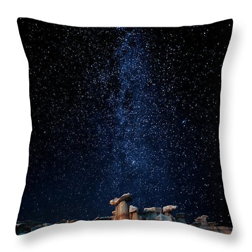 Tranquility Throw Pillow featuring the photograph Star Gazers by John Fan Photography