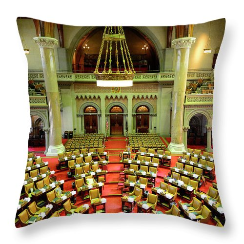 Arch Throw Pillow featuring the photograph State House Capitol Building, Albany by Dennis Macdonald