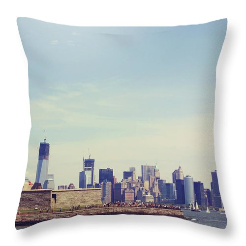 Tranquility Throw Pillow featuring the photograph Statue Of Liberty by Sere C. Photography