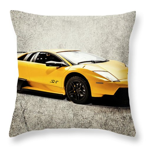 Lambo Throw Pillow featuring the photograph Street Shine by Jorgo Photography - Wall Art Gallery