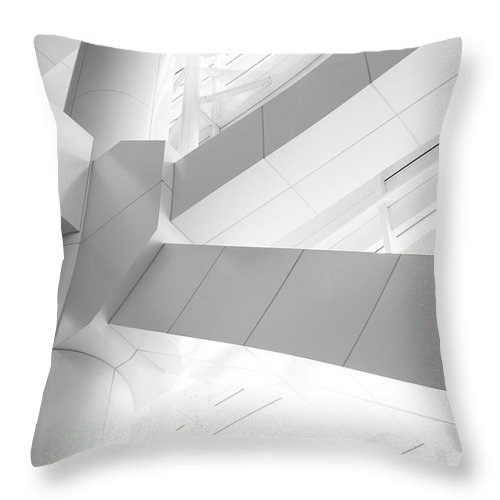 Toughness Throw Pillow featuring the photograph Structural Connection by Blackred